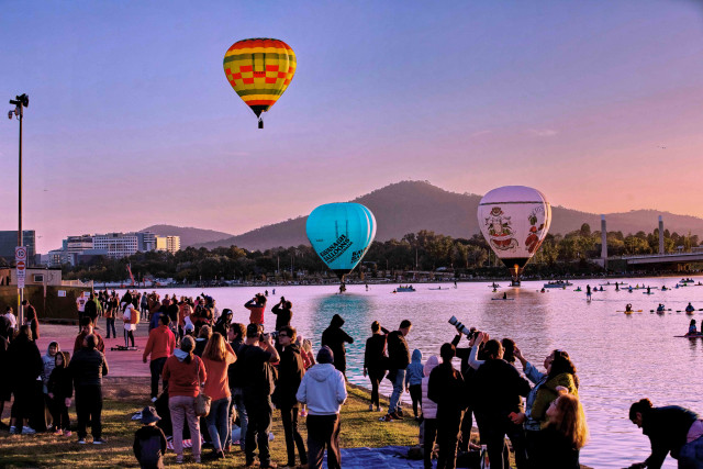 In Canberra, balloons rising with hope