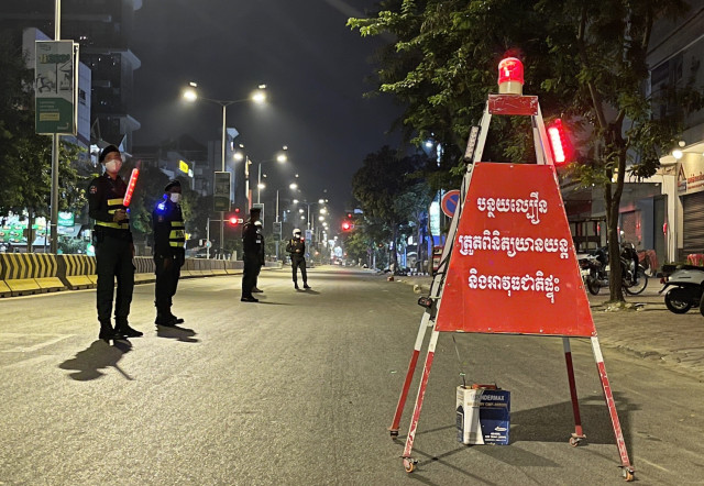 Phnom Penh Curfew Extended until April 28 as COVID-19 Cases Rise